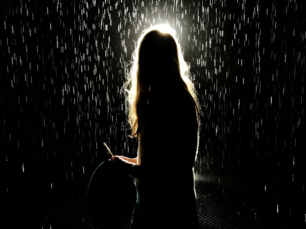 mindful in the Rain Room at LACMA