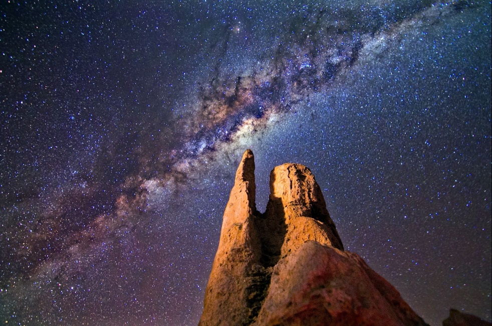 the milky way - night sky - majestic - star light - infinite
